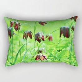 Chequered lily Fritillaria Meleagris Rectangular Pillow