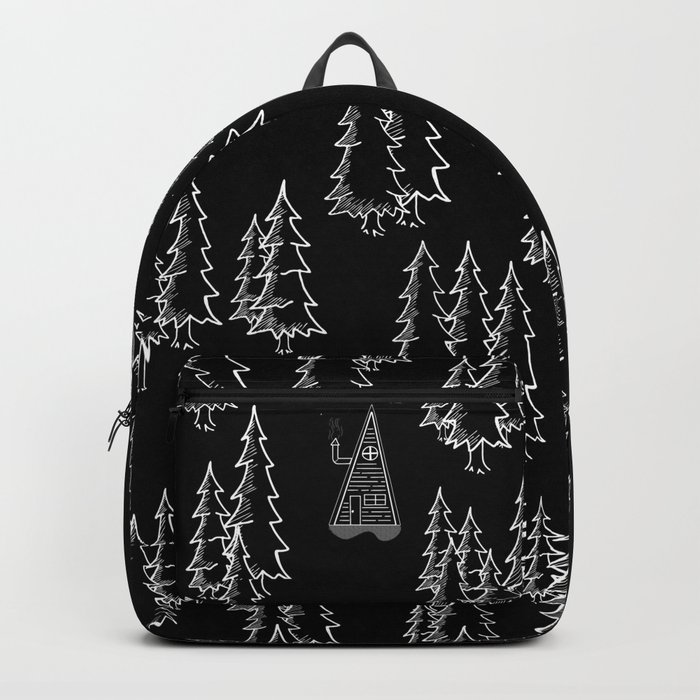 Lost in the wood, a lonely cabin (revers) Backpack