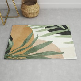 Abstract Art Tropical Leaves 4 Rug