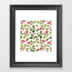 Rain of roses Framed Art Print