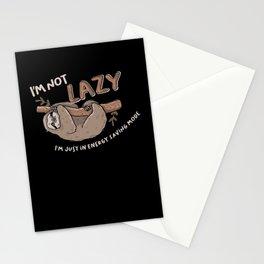I'm Not Lazy - Lazy Sloth Loafers Stationery Cards