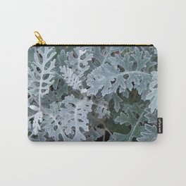 Dusty Miller Leaves Carry-All Pouch