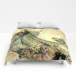"""Queen of the Fairies"" by Arthur Rackham Midsummer's Night Comforters"