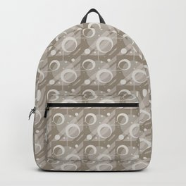 Modern Geometric Pattern 6 in Taupe Backpack