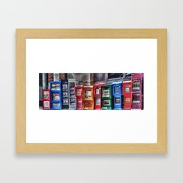 Eleven Papers Framed Art Print