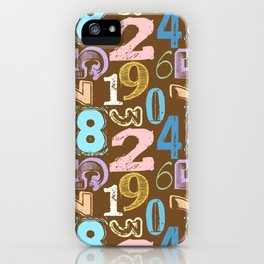 Numberology iPhone Case