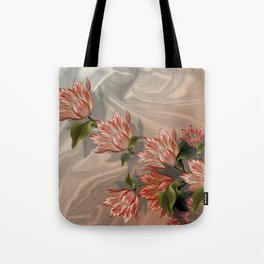 """""""Coral flowers on white silk"""" (Air Spring) Tote Bag"""