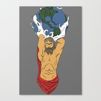 atlas Canvas Prints featuring Atlas  by Robert Payton