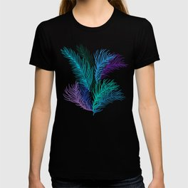 Multicolored palm leaves T-shirt