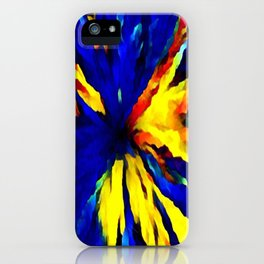 blue yellow iPhone Case