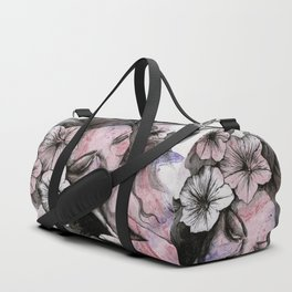 In The Year Of Our Lord (smiling flower lady portrait) Duffle Bag