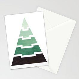 Green Aqua Teal Aztec Pyramid Triangle Egypt Minimalist Mid Century Modern Watercolor Geometric Patt Stationery Cards