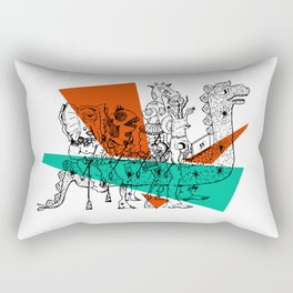 Adjacent Fourmula Rectangular Pillow