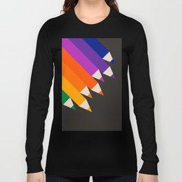 Rainbow Pencils Long Sleeve T-shirt