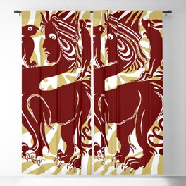 """William De Morgan """"Sphinx with two rabbits"""" 1. Blackout Curtain"""
