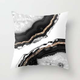 Agate Glitter Glam #2 #gem #decor #art #society6 Throw Pillow