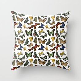 Vintage Butterflies | Butterfly Pattern | Multi-colored | Throw Pillow