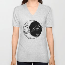 The Moon Blowing Stars Unisex V-Neck