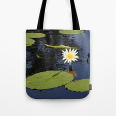 white lily flower Tote Bag