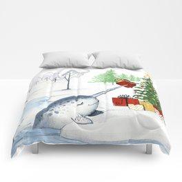 Christmas Narwhal Comforters