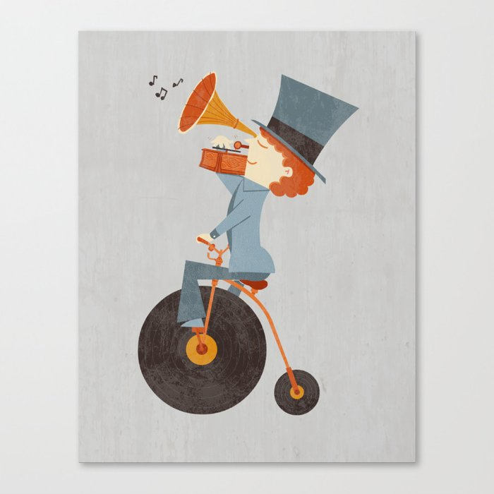 Rolling Old School Canvas Print