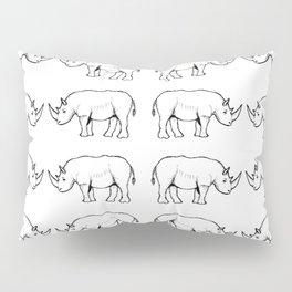 Rhino Sketch Patterns Pillow Sham