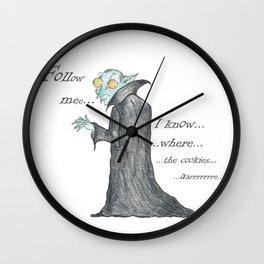 Follow Me, says the Vampire Wall Clock
