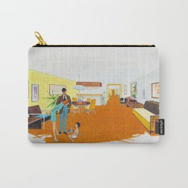 1950's Motel Room Artwork from Wildwood, NJ. Retro Motel Illustration Carry-All Pouch