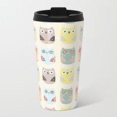owls pattern Metal Travel Mug