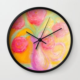 A Bouquet of Happiness Wall Clock