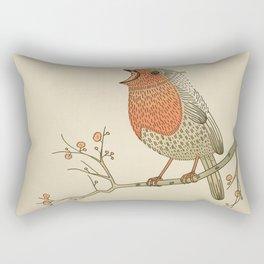 Songbird Robin vintage color palette Rectangular Pillow
