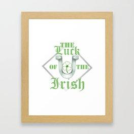 Luck Of The Irish Framed Art Print