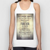 scripture Tank Tops featuring Imitation of Christ: Book 1 Chapter 5 Reading the Holy Scripture by Kahligraphy