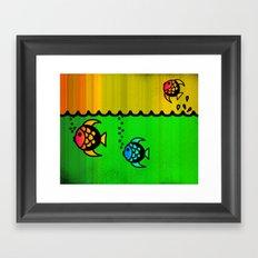 Slippery fish Framed Art Print