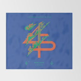 Bon Iver __45___ Design Throw Blanket