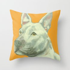 Pittbull printed from an original painting by Jiri Bures Throw Pillow