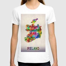 Ireland Map in Watercolor T-shirt