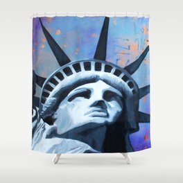 Welcome to New York Statue of Liberty Shower Curtain