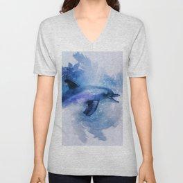 Dolphins Freedom Unisex V-Neck