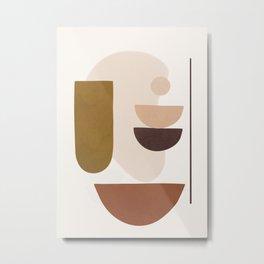 Minimal Shapes No.40 Metal Print