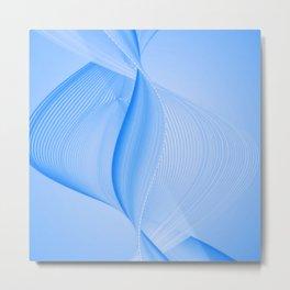 Blue Abstract Swirl Metal Print