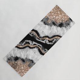 Yin Yang Agate Glitter Glam #8 #gem #decor #art #society6 Yoga Mat
