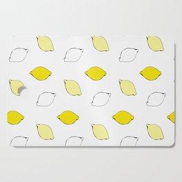 Giant Lemon Pattern Cutting Board