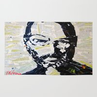 steve jobs Area & Throw Rugs featuring Steve Jobs by Phil Fung