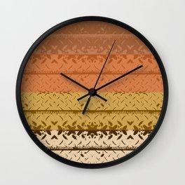 Desert Tread Plate Wall Clock