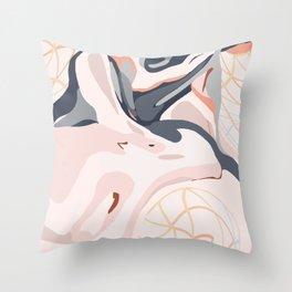 Elegant Zen Marbled Effect Design Throw Pillow