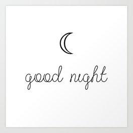 Good Night Art Print