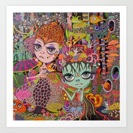 Lacey and Lulu, Forest Sprythes Art Print