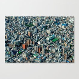 Tokyo like a 3D-isometric game Canvas Print