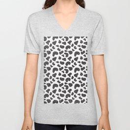 Hipster girly black white glitter cheetah animal print Unisex V-Neck